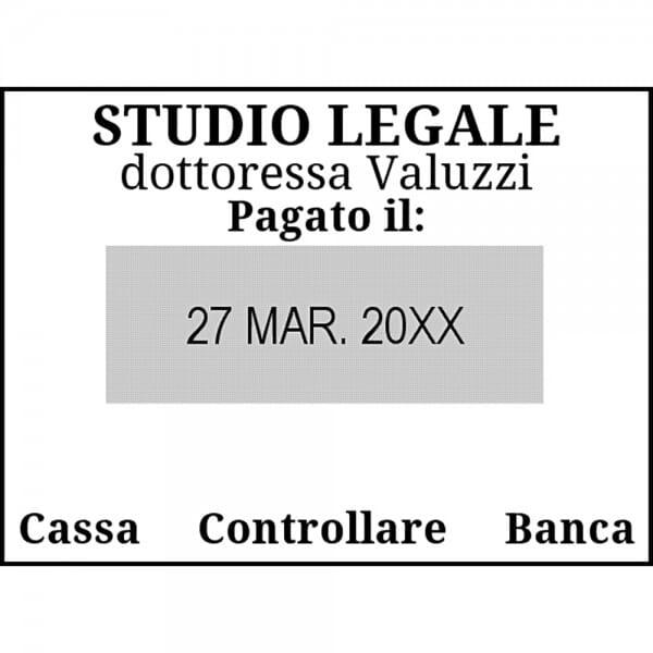 Trodat Classic Datario con piastra 2910/P02