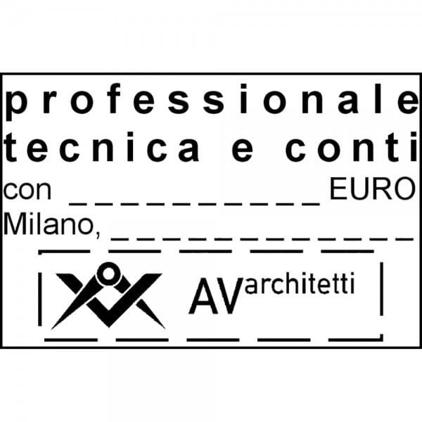 Trodat Professional 5207 60 x 40 mm - 9 righe