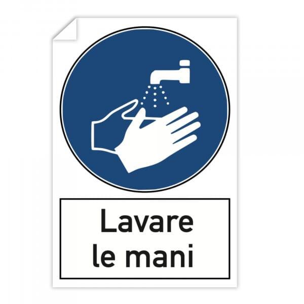 Adesivi 10 pezzi - Lavare le mani (200x300 mm)