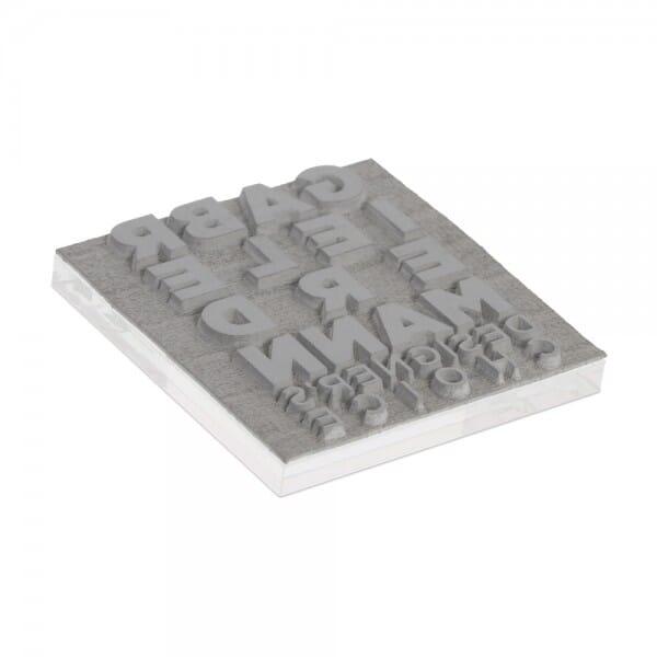 Piastra di Testo per Trodat Mobile Printy 9425 25 x 25 mm - 5 righe