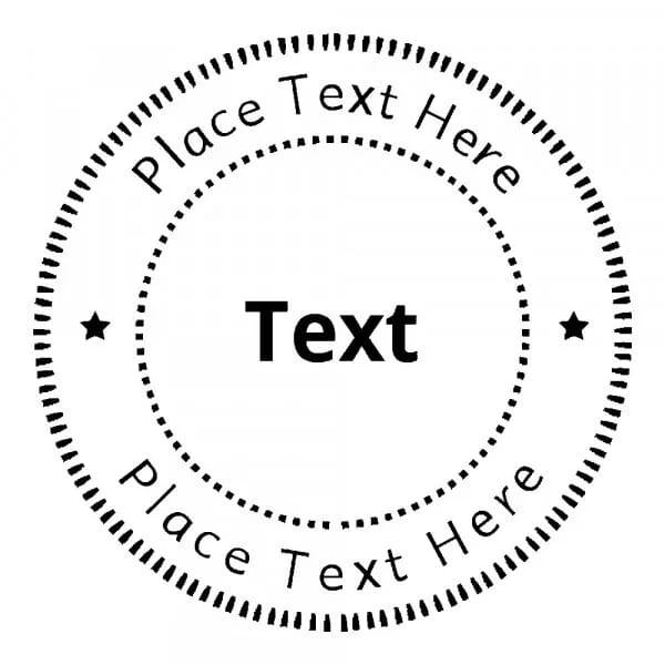 Timbro Rotondo Monogram Formale