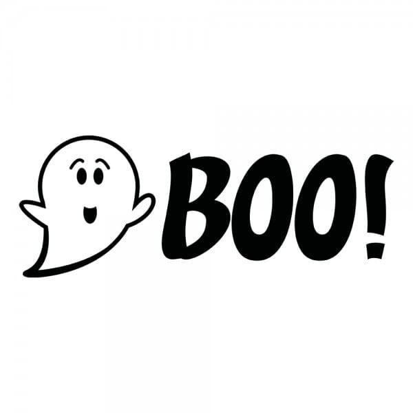 HAPPY HALLOWEEN Printy 4912 - Boo - nero
