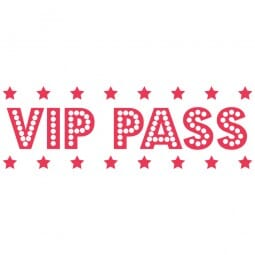 LET'S PARTY Printy 4910 - VIP pass - rosso