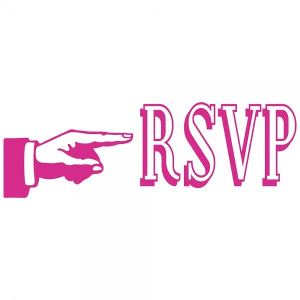 LET'S PARTY Printy 4910 - RSVP - rosa