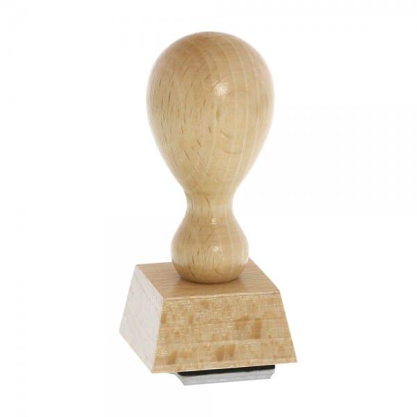 Timbro in legno quadrato, 30 x 30 mm