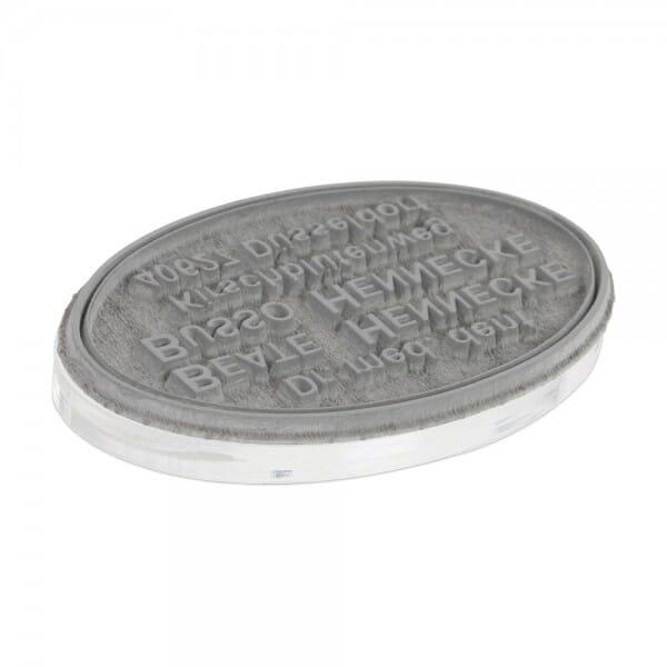 Piastra di Testo per Trodat Printy ovale 44055 55 x 35 mm - 7 righe