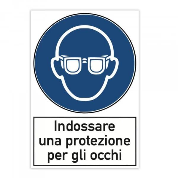 Segnale di pericolo (x2) - Indossare una protezione per gli occhi (200x300 mm)