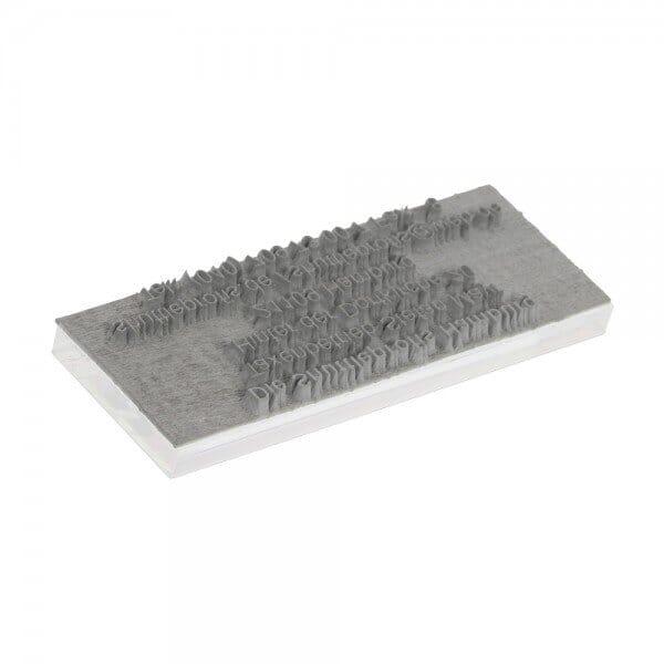 Piastra di Testo per Trodat Printy 4911 38 x 14 mm - 3 righe