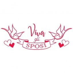 HAPPY DAY Printy 4912 - viva gli sposi - rosso