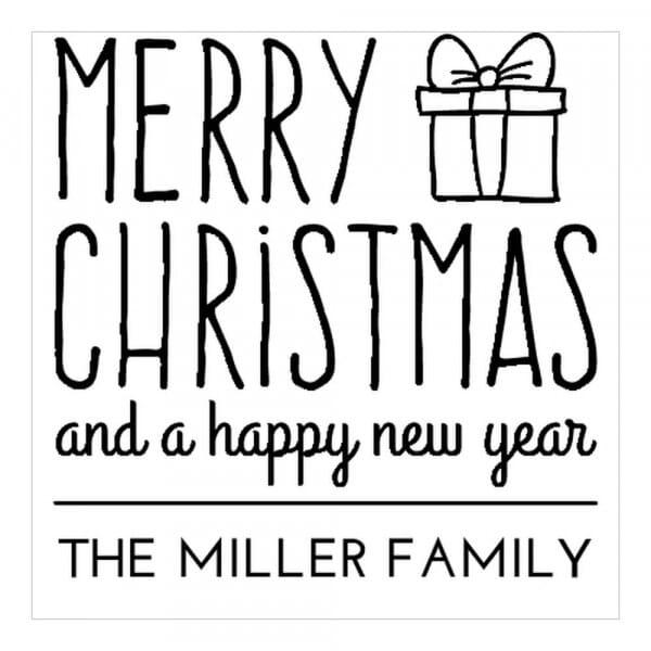 Timbro Quadrato Monogram Regalo di Natale