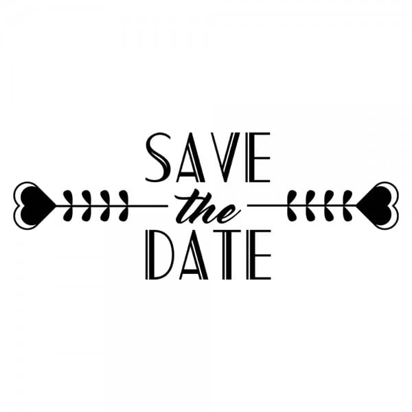HAPPY DAY Printy 4912 - Save the date - nero