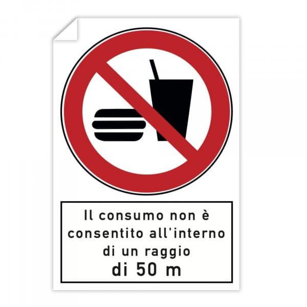 Adesivi 10 pezzi - Il consumo non è consentito all'interno di un raggio di 50 m (200x300 mm)