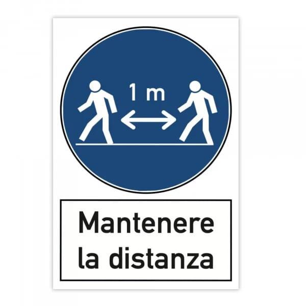 Segnale di pericolo (x2) - Mantenere la distanza (200x300 mm)