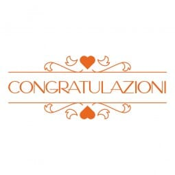 HAPPY DAY Printy 4912 - Congratulazioni - arancio