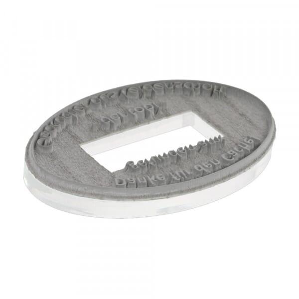 Piastra di Testo per Trodat Professional Datario 54045 ovale 45x30 mm - 4+4 righe