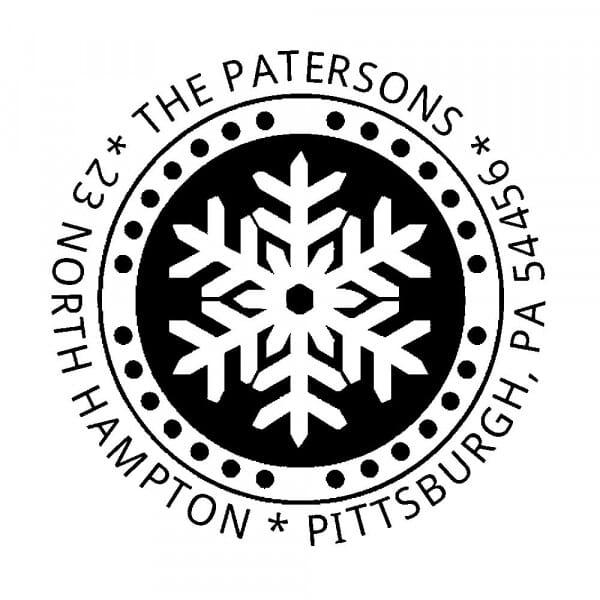 Timbro Rotondo Monogram Fiocco di neve (Trodat Printy 4642 - 42 mm)