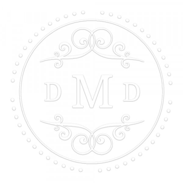 Timbro a Secco Rotondo Monogram Stile classico