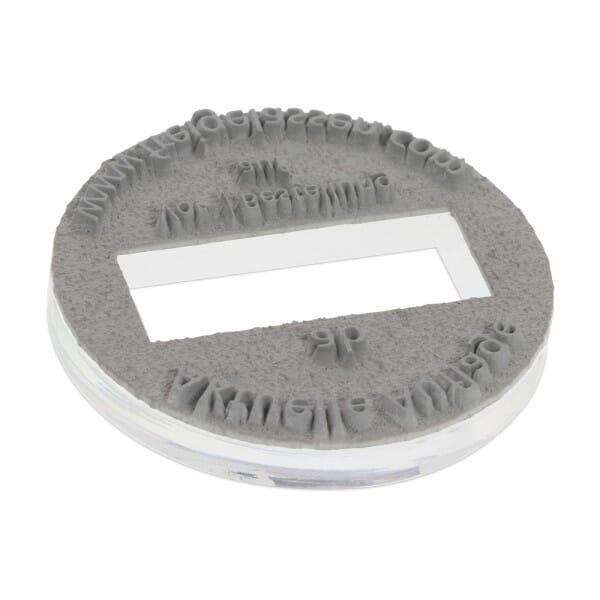 Piastra di Testo per Trodat Printy Datario 46125 25 mm diam. - 2+2 righe