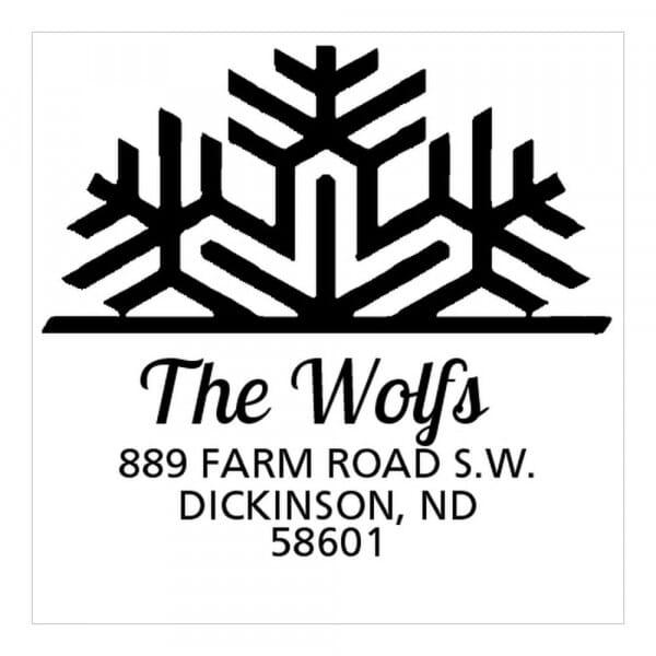 Timbro Quadrato Monogram Fiocco di neve
