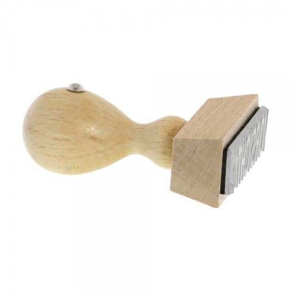 Timbro in legno rettangolare, 50 x 20 mm