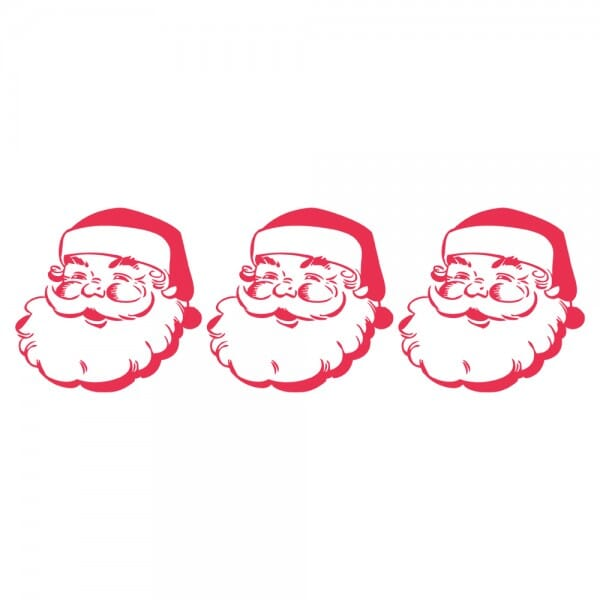 HAPPY CHRISTMAS Printy 4910 - babbo natale - rosso