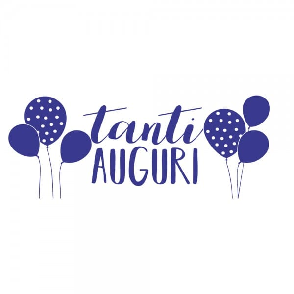 Amato TANTI AUGURI Printy 4912 - Tanti auguri - viola | www.timbri.it OD55