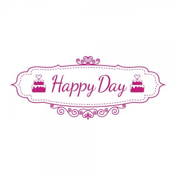 HAPPY DAY Printy 4912 - Happy day - rosa