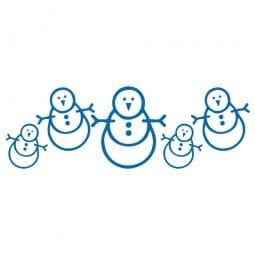 HAPPY CHRISTMAS Printy 4910 - pupazzi di neve - blu