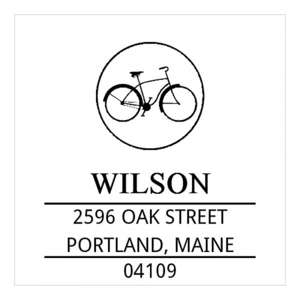 Timbro Quadrato Monogram Bicicletta