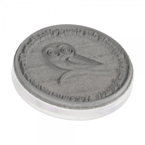 Piastra di Testo per Trodat Professional 5215 45 mm diam. - 8 righe