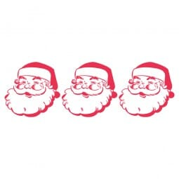 HAPPY CHRISTMAS Printy 4910 - babbo natale - rosso