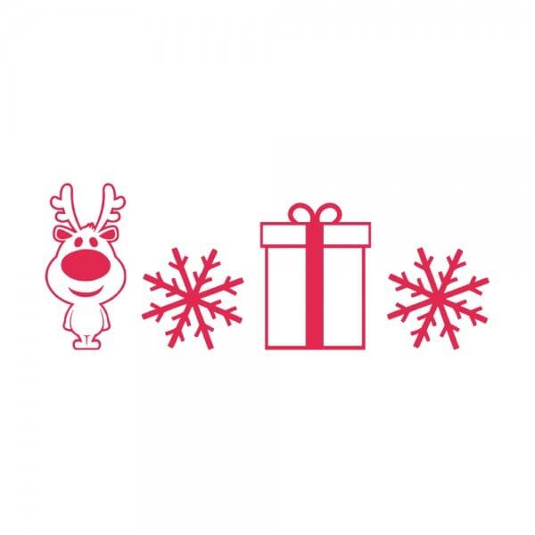 HAPPY CHRISTMAS Printy 4910 - renna - rosso