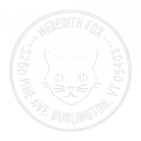 Timbro a Secco Rotondo Monogram Princessa Kitty