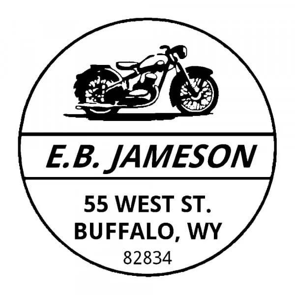 Timbro Rotondo Monogram Motociclista (Trodat Printy 4642 - 42 mm)