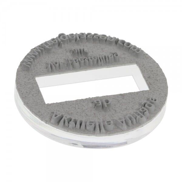 Piastra di Testo per Trodat Printy Datario 46130 30 mm diam. - 2+2 righe