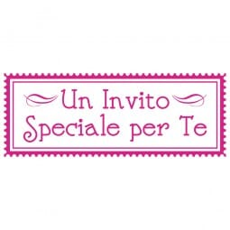 LET'S PARTY Printy 4912 - Un invito speciale per te - rosa