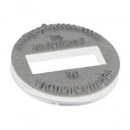 Piastra di Testo per Trodat Printy Datario 46145 45 mm diam. - 3+3 righe