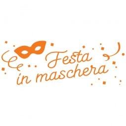 LET'S PARTY Printy 4912 - Festa in maschera - arancio