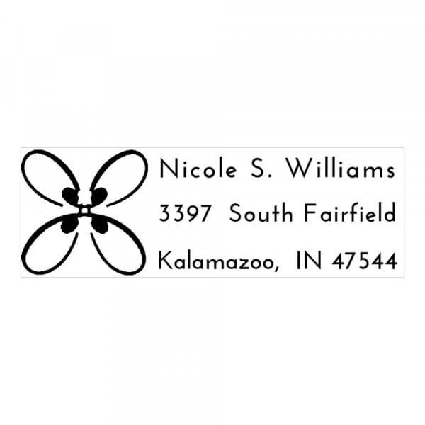 Timbro Monogram  Farfalla