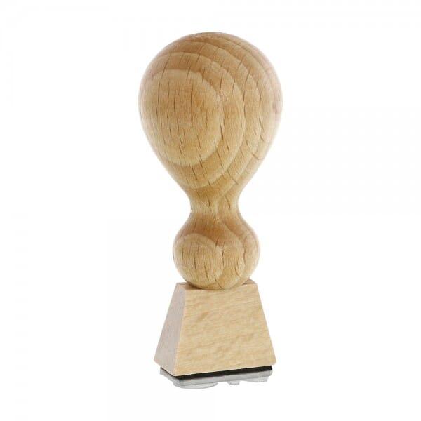 Timbro in legno rettangolare, 20 x 10 mm