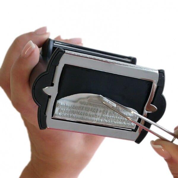 Piastra di Testo per Trodat Professional 52040 40 mm diam. - 8 righe