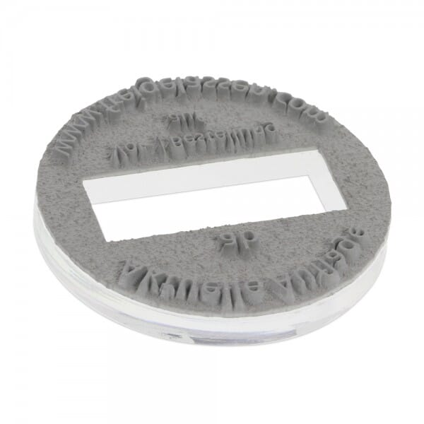Piastra di Testo per Trodat Professional Datario 54140 40 mm diam. - 3+3 righe