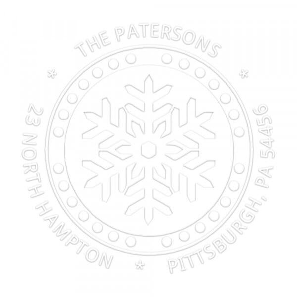 Timbro a Secco Rotondo Monogram Fiocco di neve