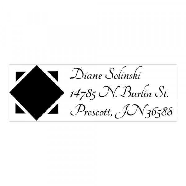 Timbro Monogram Diamante nero