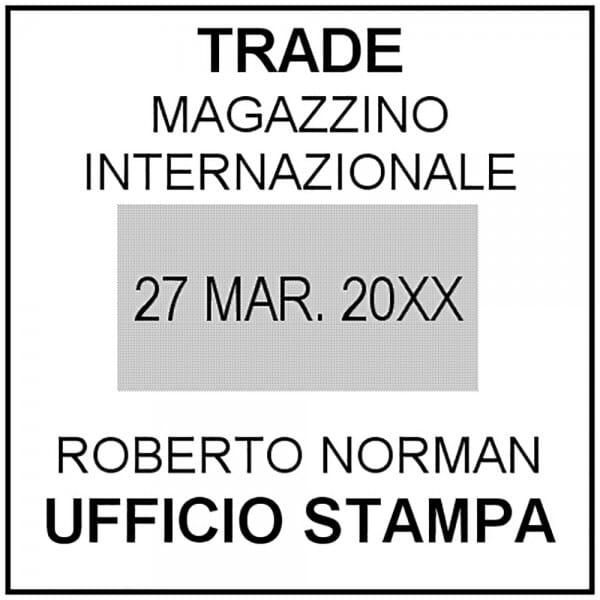 Trodat Printy Datario 4724 40 x 40 mm - 3+3 righe