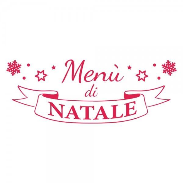 HAPPY CHRISTMAS Printy 4912 - menu di natale - rosso