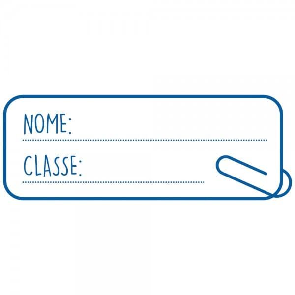 HAPPY SCHOOL Printy 4912 - Nome,classe - blu