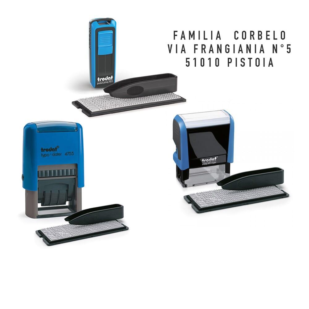 Timbri Personalizzati Per Stoffa timbri autoinchiostranti per autocomposizione | www.timbri.it