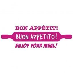 HOMEMADE Printy 4912 - buon appetito - rosa