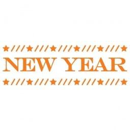 HAPPY CHRISTMAS Printy 4910 - new year - arancio